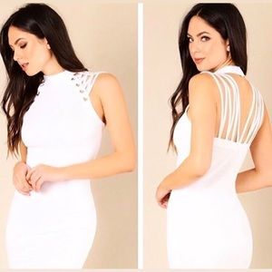 Wow couture white bandage dress
